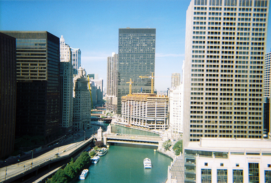 View of Chicago from the Sheraton