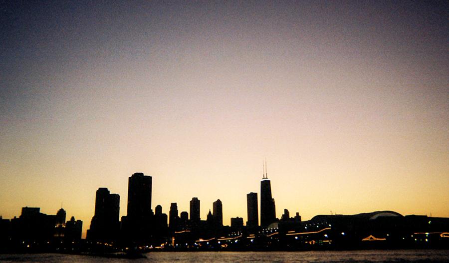 Chicago Sunset Skyline