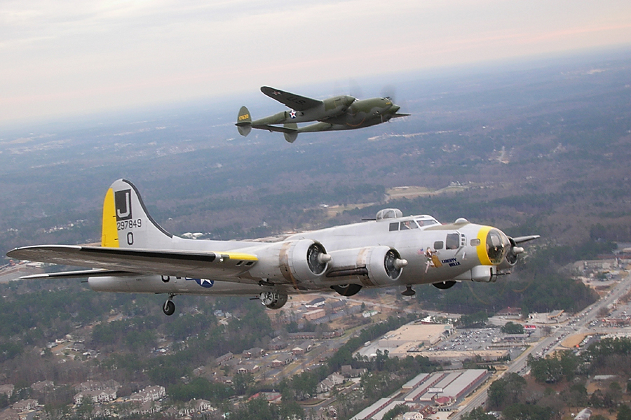 P-38 and B-17 (Liberty Belle)