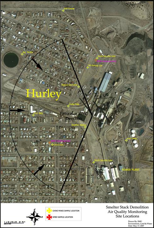 Hurley Smokestacks Demolition Air Monitoring Sites
