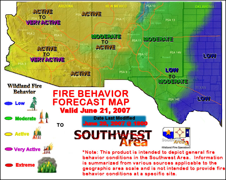 Southwest Fire Behavior Outlook