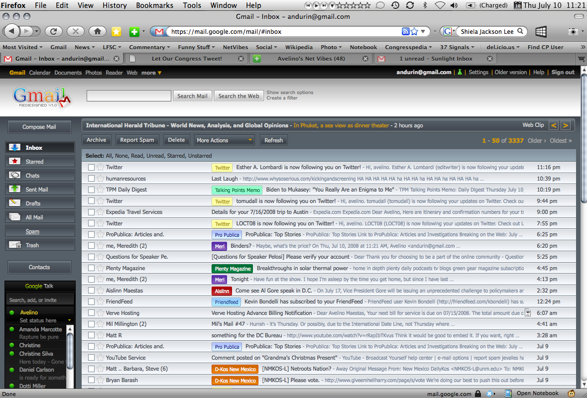 Better Gmail 2 Redesigned Skin
