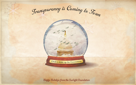 Click to shake the snow globe!