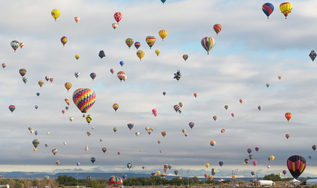The 2014 International Balloon Fiesta in Albuquerque.