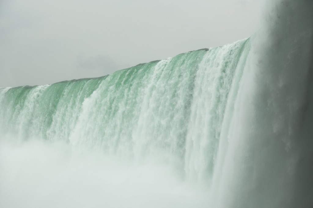 On the Canadian side of the Horseshoe Falls at Niagara.