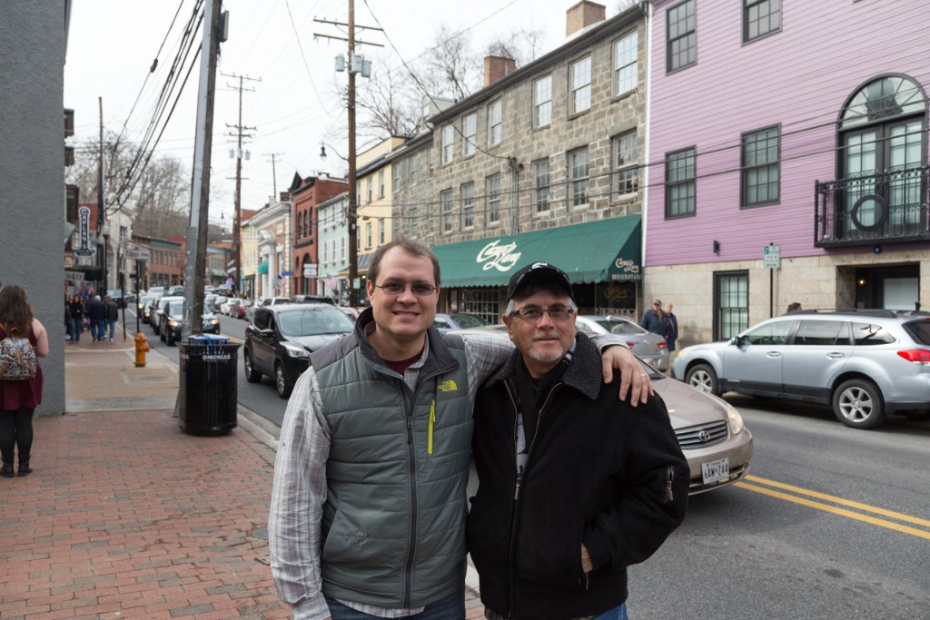 Dad and I in Ellicott City.